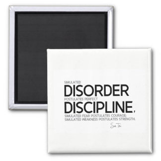 QUOTES: Sun Tzu: Perfect discipline Square Magnet