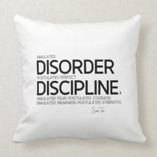 QUOTES: Sun Tzu: Perfect discipline Throw Pillow