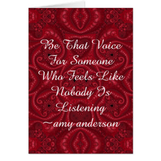 "Quotes With Meaning ""Be That Voice"" Card"