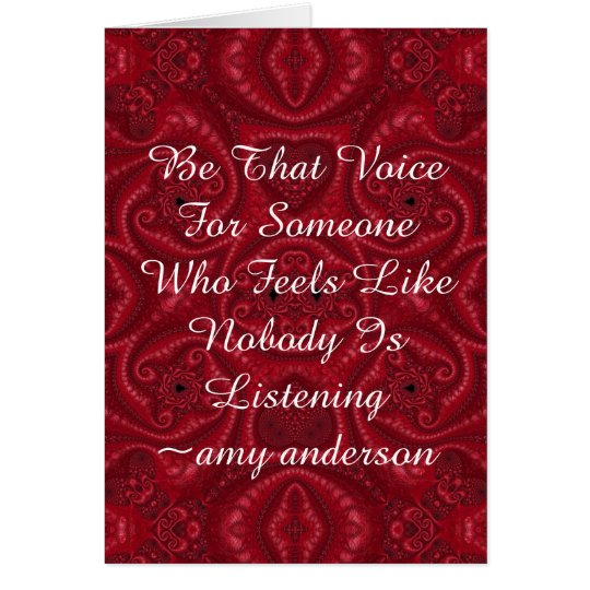 """Quotes With Meaning """"Be That Voice"""" Card"""