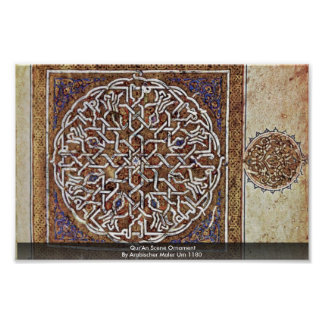 Qur'An Scene Ornament By Arabischer Maler Um 1180 Print