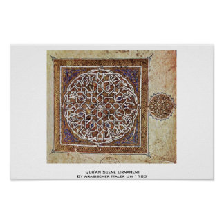 Qur'An Scene Ornament By Arabischer Maler Um 1180 Poster