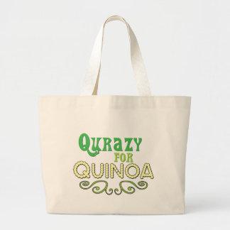 Qurazy for Quinoa © - Funny Quinoa Slogan Jumbo Tote Bag