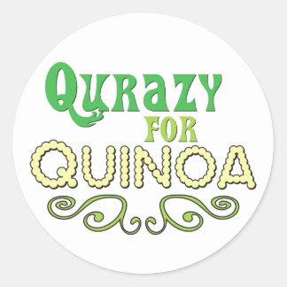 Qurazy for Quinoa © - Funny Quinoa Slogan Round Sticker