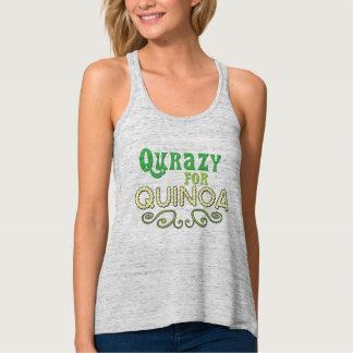 Qurazy for Quinoa © - Funny Quinoa Slogan Flowy Racerback Tank Top