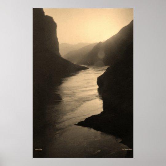Qutang Gorge River Poster