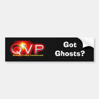 QVP Got Ghosts Bumper Sticker