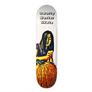 Qwerty Master Skateboards--Carving Pumpkins 21.6 Cm Old School Skateboard Deck