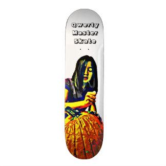 Qwerty Master Skateboards--Carving Pumpkins Skateboard
