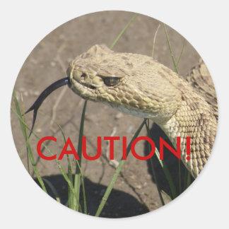 R0008 Rattlesnake Classic Round Sticker