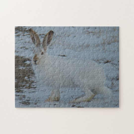 R0023 Snowshoe Hare Jigsaw Puzzle