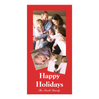R05 Radiantly Confident Red Color Customizable Card