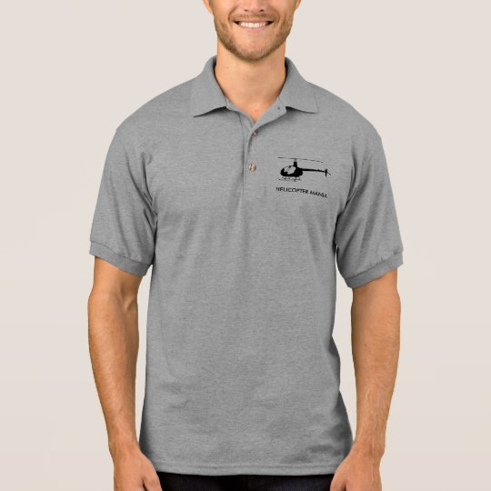 R22 b & w, HELICOPTER MANIA Polo Shirt