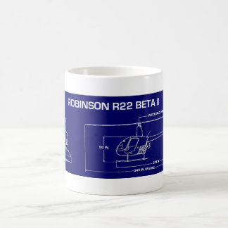 R22 Helicopter Coffee Mug