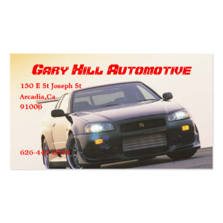 R34 GT-R black front tuned[1], Gary Hil... Pack Of Standard Business Cards