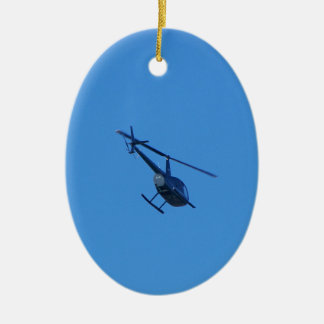 R44 Helicopter Christmas Ornament