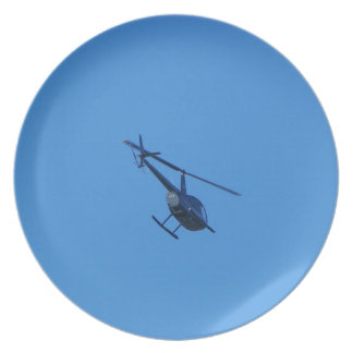 R44 Helicopter Dinner Plates