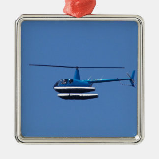 R44 helicopter with floats christmas ornament
