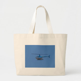 R44 helicopter with floats large tote bag