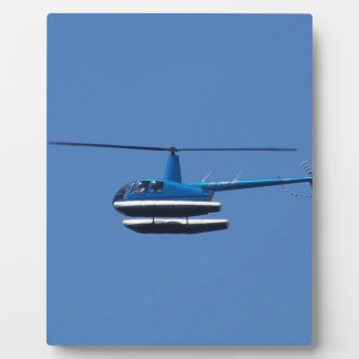 R44 helicopter with floats plaque