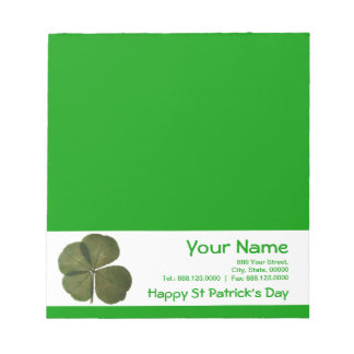 R4 leaves clover St Patrick' Day Specal Business Memo Note Pads