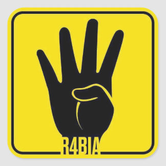 R4BIA, free Egypt, stop Killing Innocents Square Sticker