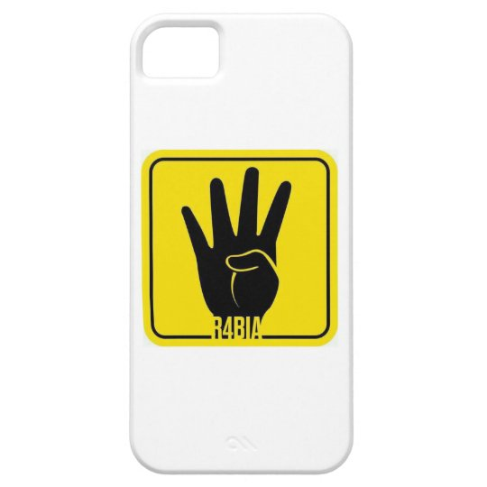 R4BIA, free Egypt, stop Killing Inocents iPhone 5 Case