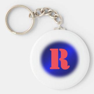 R BASIC ROUND BUTTON KEY RING