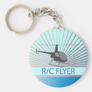 R-C Flyer Copter Basic Round Button Key Ring