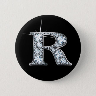 """R"" Diamond Bling Button"