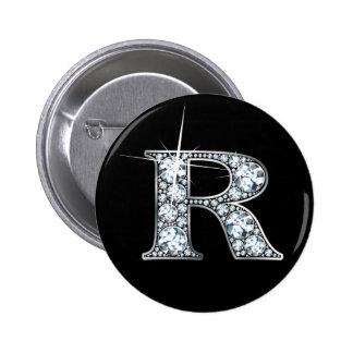 """R"" Diamond Bling Button"