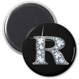"""R"" Faux-""Diamond Bling"" Magnet"