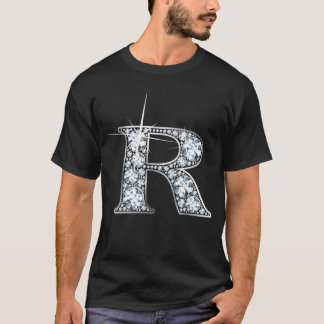 """R"" Faux-""Diamond Bling"" T-Shirt"