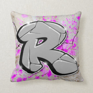 R - Graffiti pillow