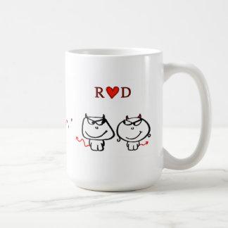 """R heart D (one initial only)"" Basic White Mug"
