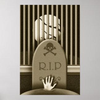 R.I.P. Graveyard Hand  Halloween Haunted House Poster