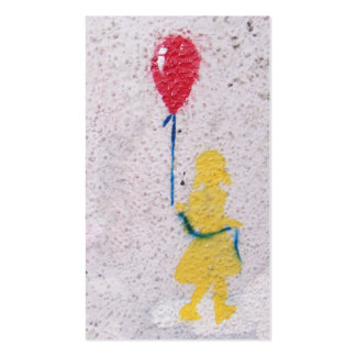 r.i.p. stencil : girl with the red balloon pack of standard business cards