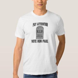 R.I.P. THE US DOLLAR  -VOTE RON PAUL TSHIRTS