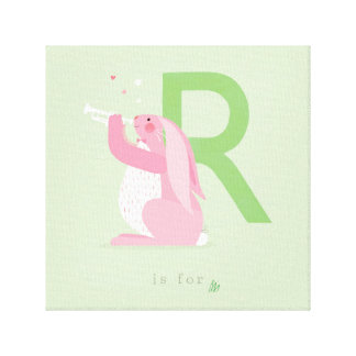 R is for... stretched canvas print