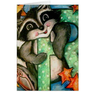 R is for Raccoon Card