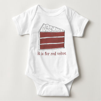 R is for Red Velvet Cake Slice Letter R Foodie Baby Bodysuit