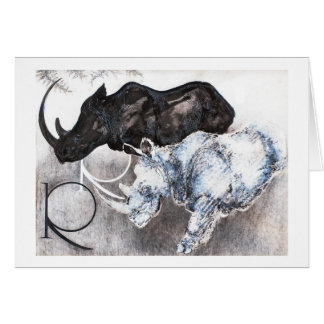 R is for Rhino Card