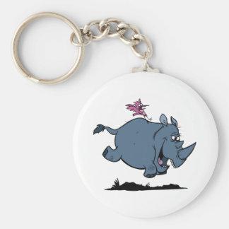 R is for Rhino Key Ring