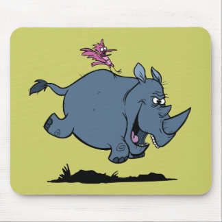 R is for Rhino Mouse Mat