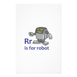 R IS FOR ROBOT CUSTOMISED STATIONERY