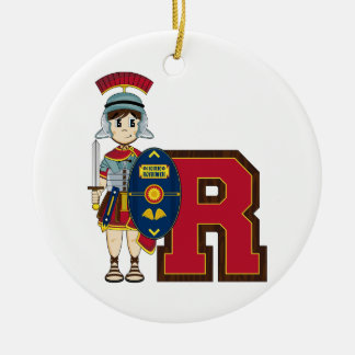 R is for Roman Soldier Christmas Ornament