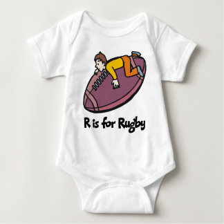 R is for Rugby Baby Bodysuit