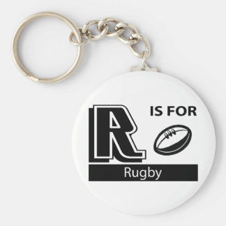 R Is For Rugby Basic Round Button Key Ring