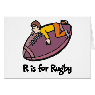 R is for Rugby Greeting Card