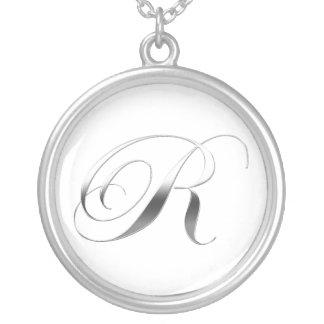 R Monogram Pendant